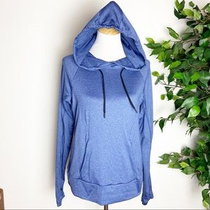 Zella blue pullover recycled material hoodie Large